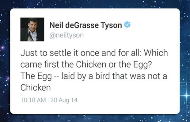 the egg came first