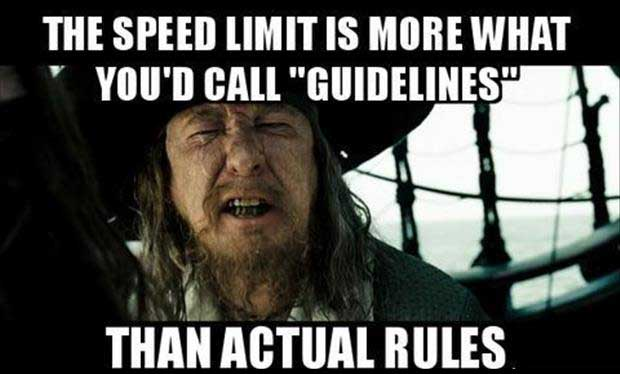 the speed limit
