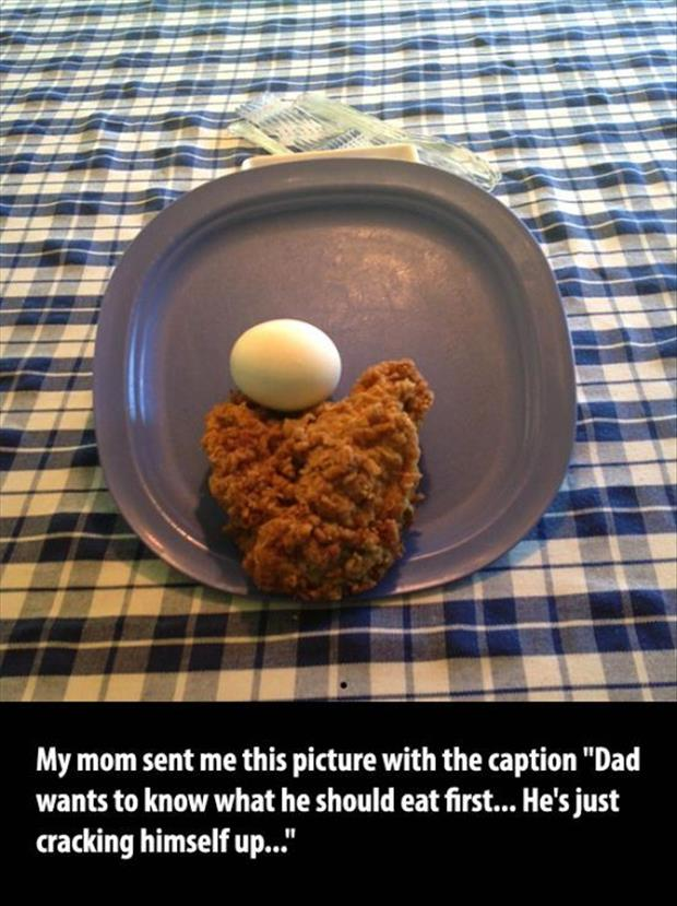 what to eat first dad jokes