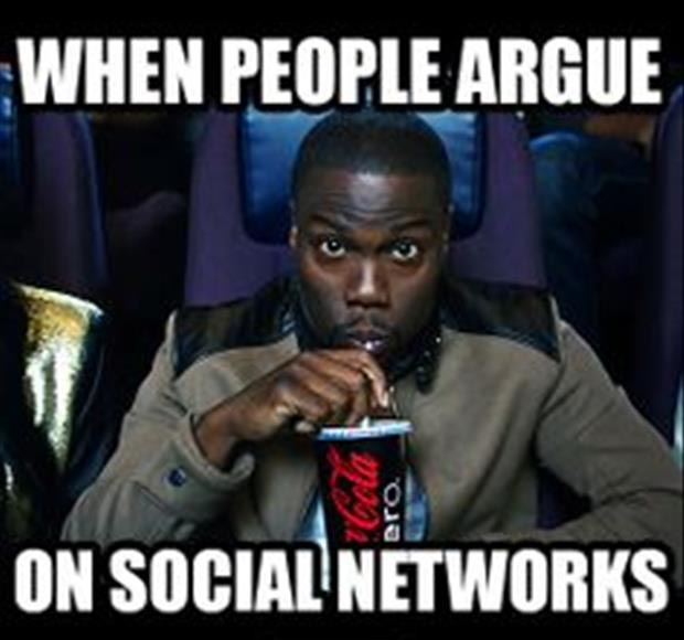 when people argue on social networks