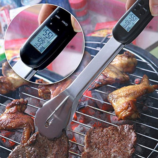 DIGITAL THERMOMETER BBQ TONG