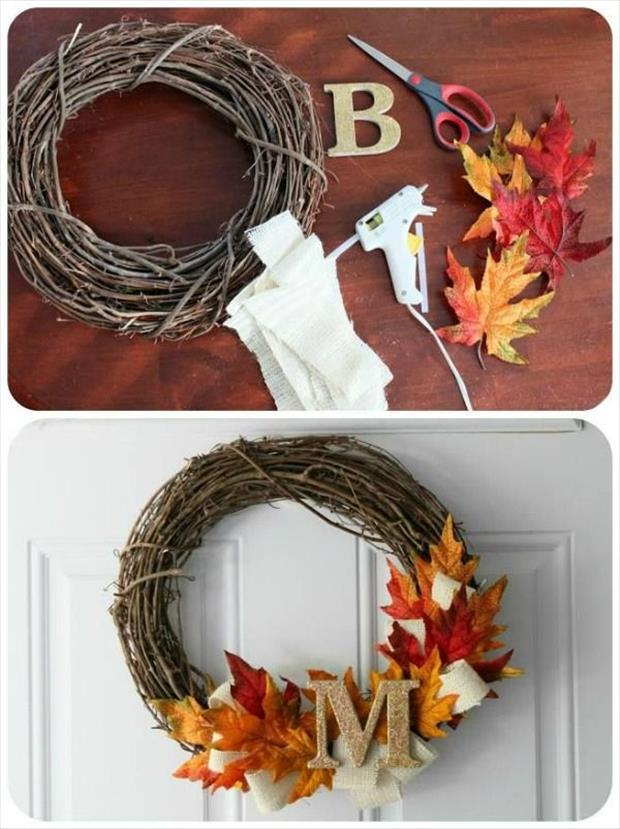 Fun diy craft ideas for fall 45 pics for Fall diy crafts pinterest