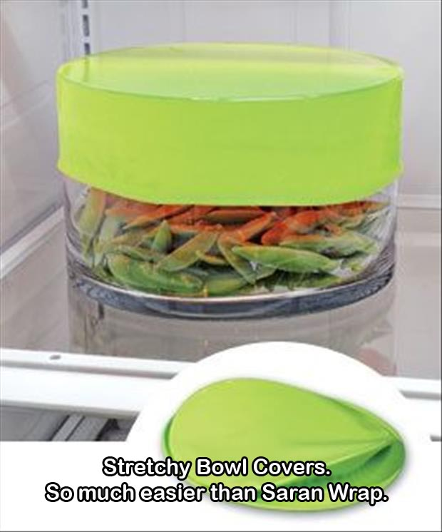 Stretchy Bowl Covers so much easier than Saran wrap
