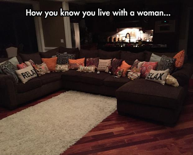 a how to know you live with a woman