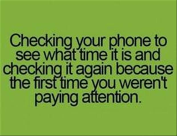 checking your phone