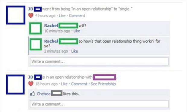 facebook status in a relationship