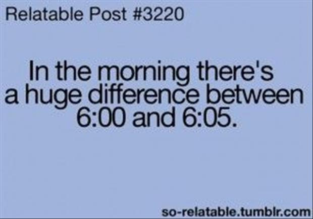in the mornings