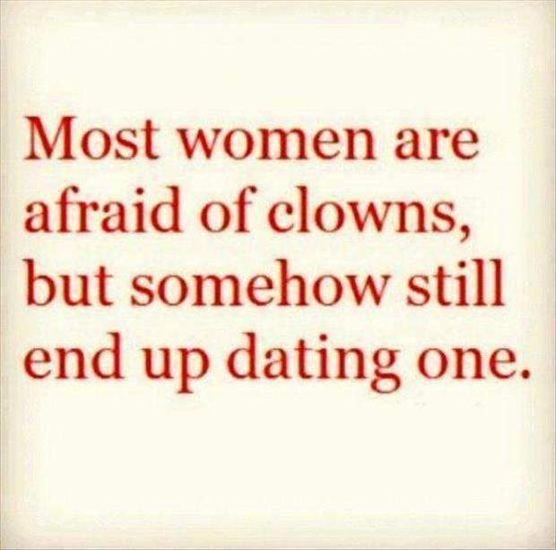 most women are afraid of clowns