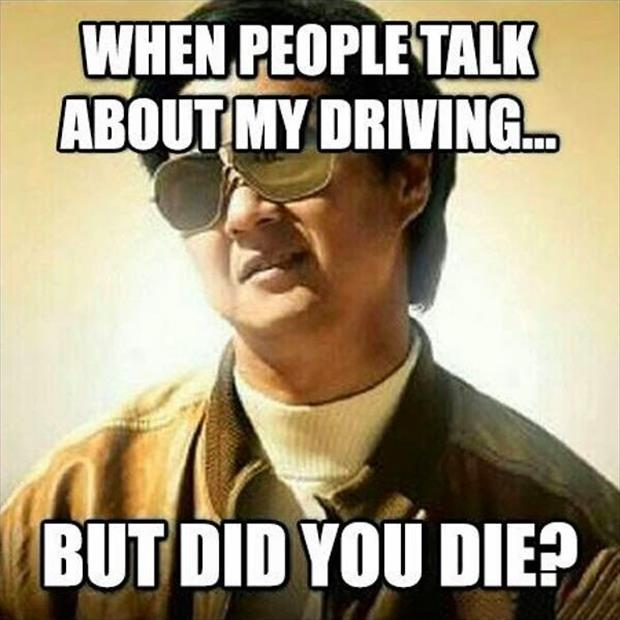 people talking about my driving