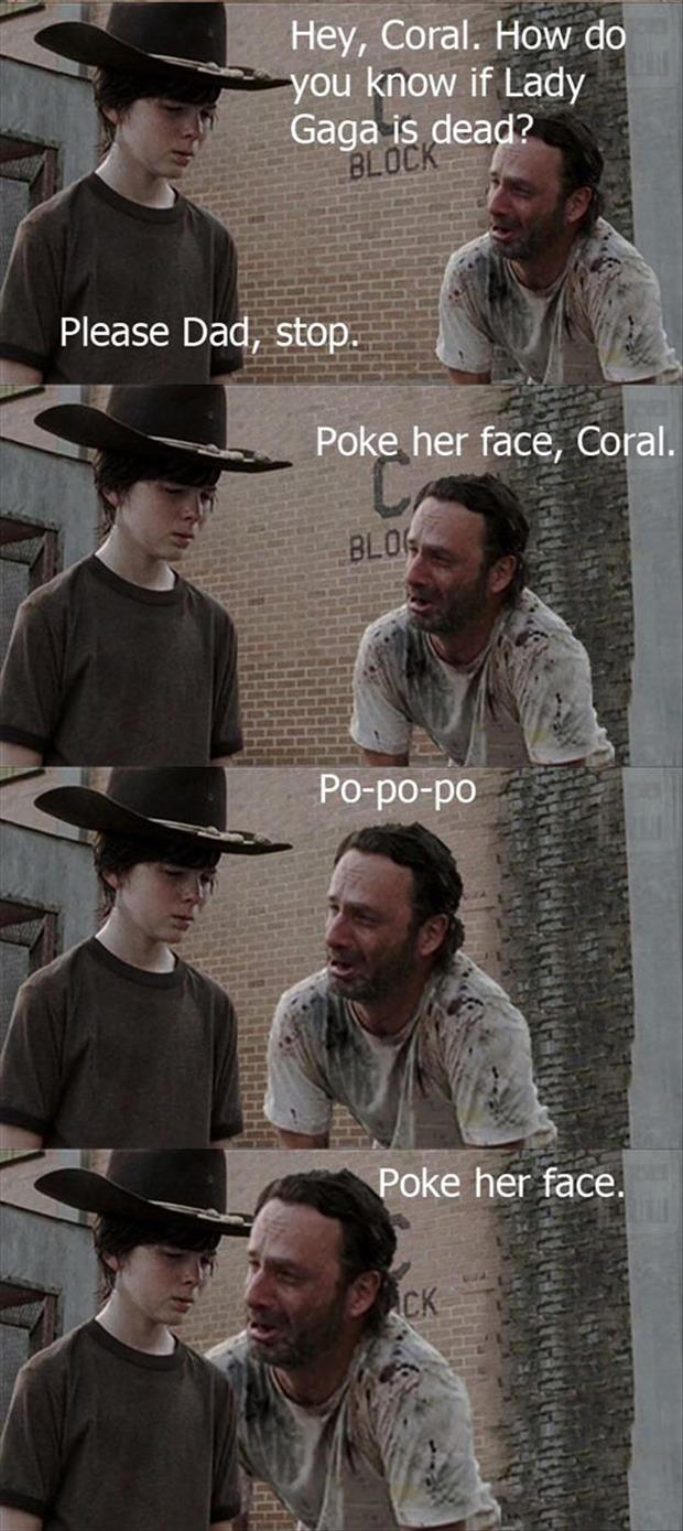 poke her face coral