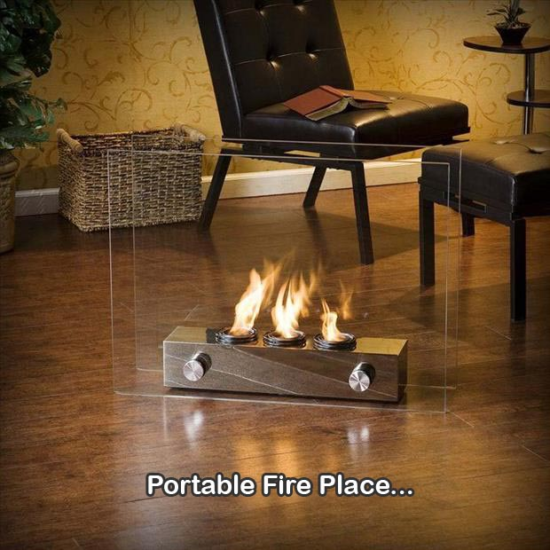 portable fire place