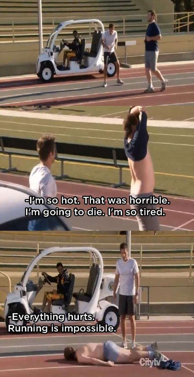 running is impossible