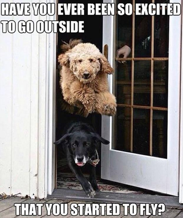 so excited to go outside