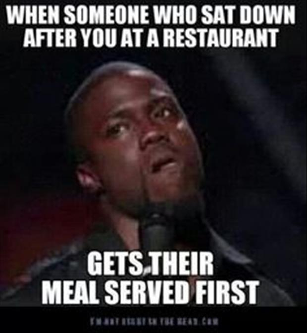 someone eats first