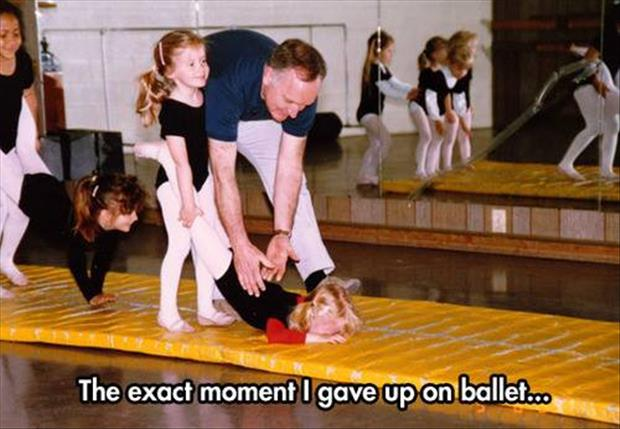 the moment I gave up ballet
