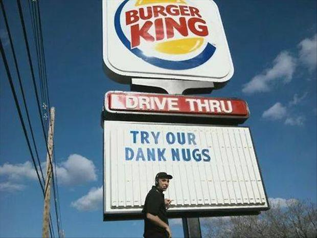 try burger king