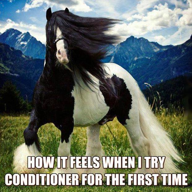 trying conditioner for the first time