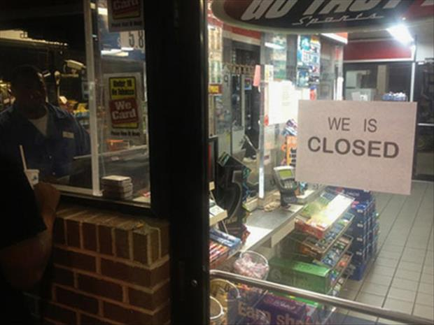 we is closed