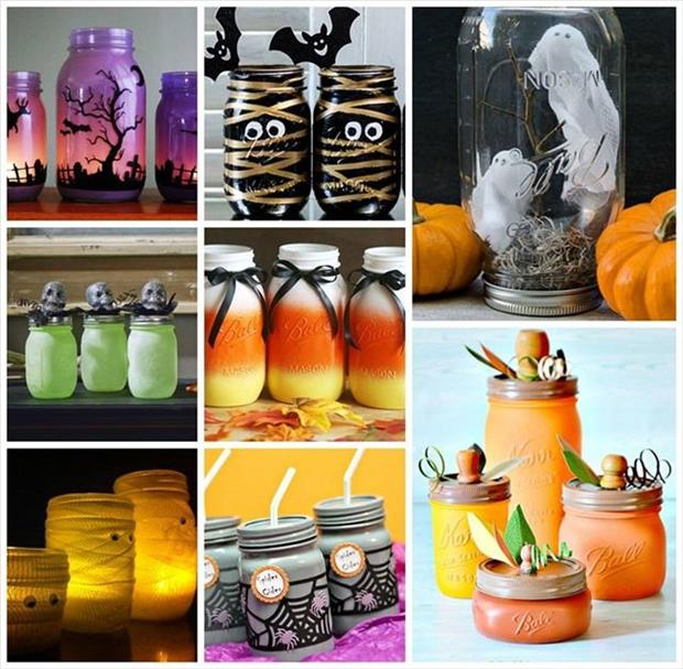 Diy Mason Jar Design Decorating Ideas: DIY Halloween Crafts