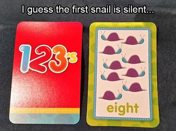 I guess the first snail is silent