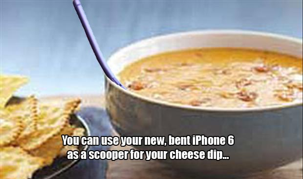 cheese dip scoop iphone six