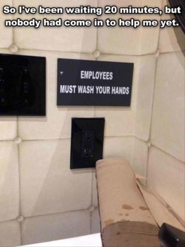 employees must wash their hands