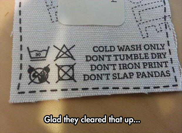funny wash instructions