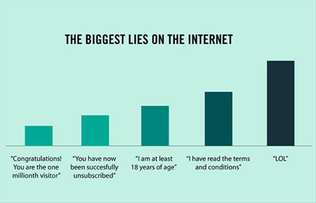 lies on the internet