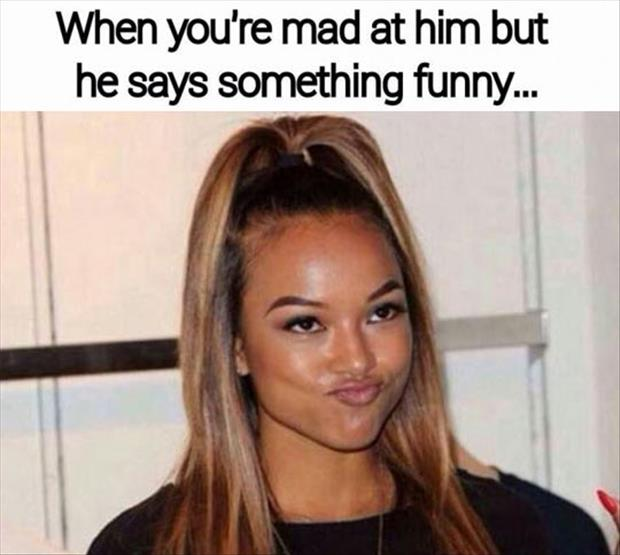 when you're mad at your man