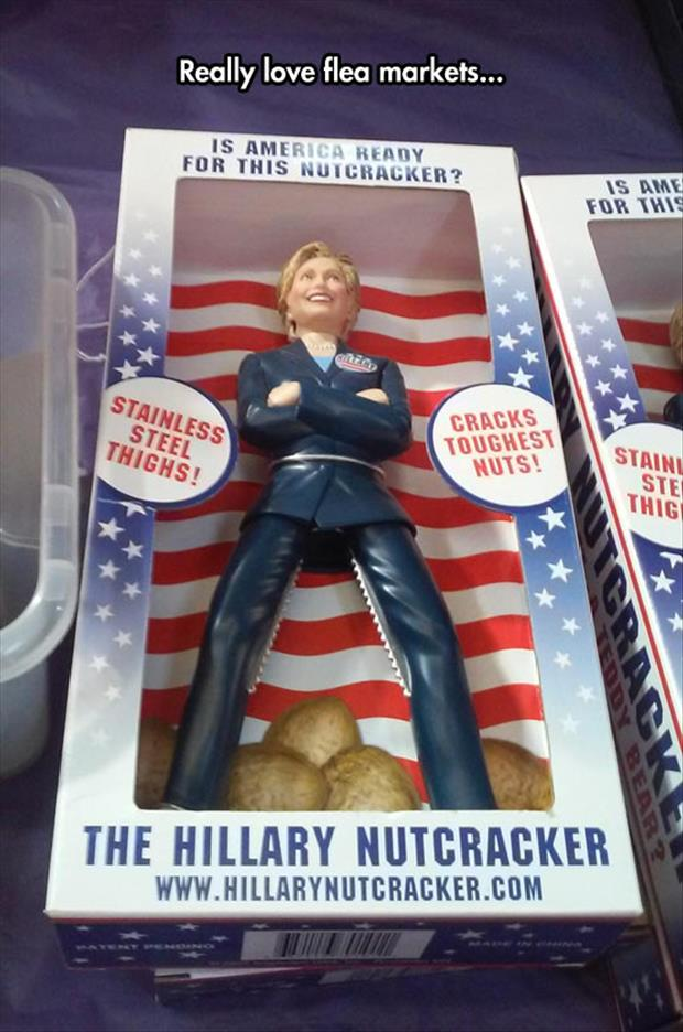 hillary clinton nut cracker