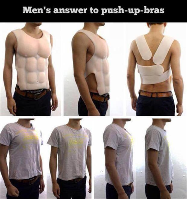 men answer to push up bra