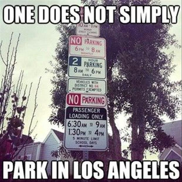 one does not simply park