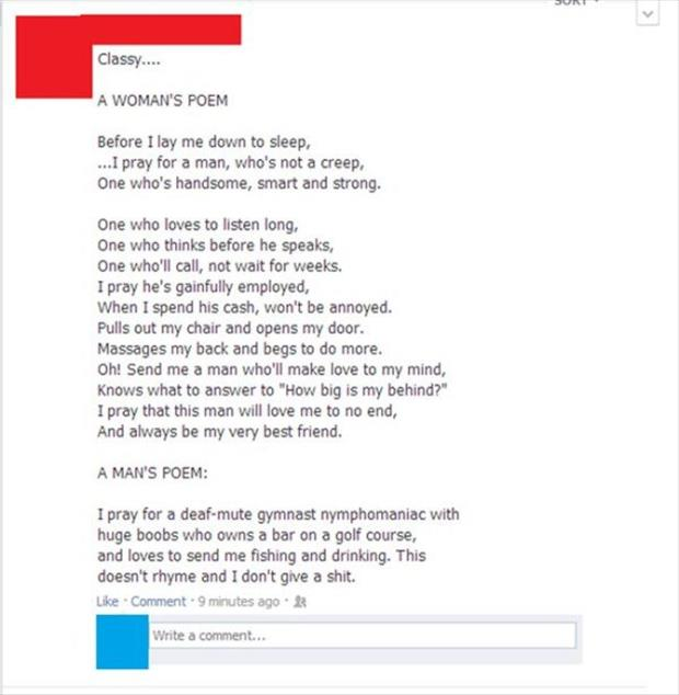 the woman's poem