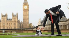 The Tallest And Shortest Man Meet – 5 Pics
