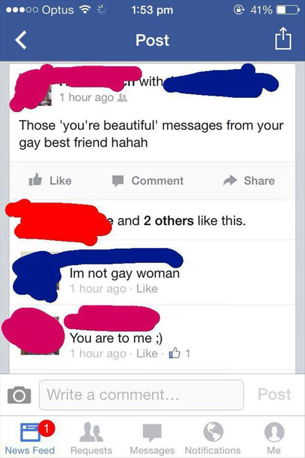 you're gay