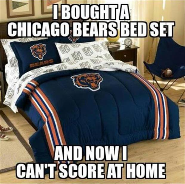 Chicago bears bed set