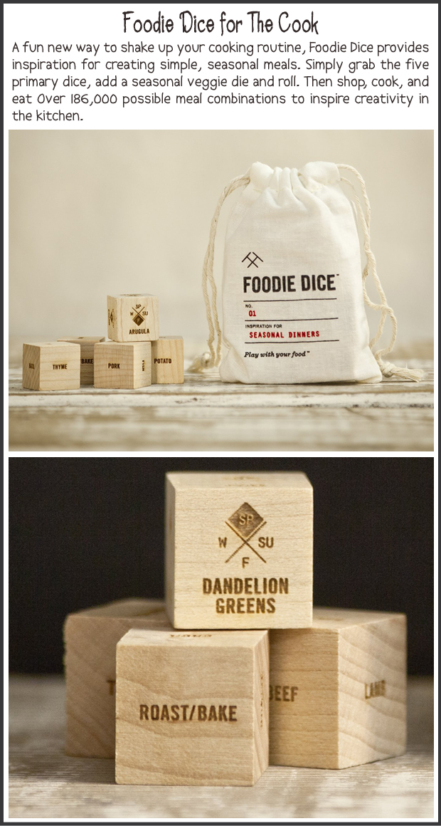 Fun Christmas Gift Ideas- Foodie Dice