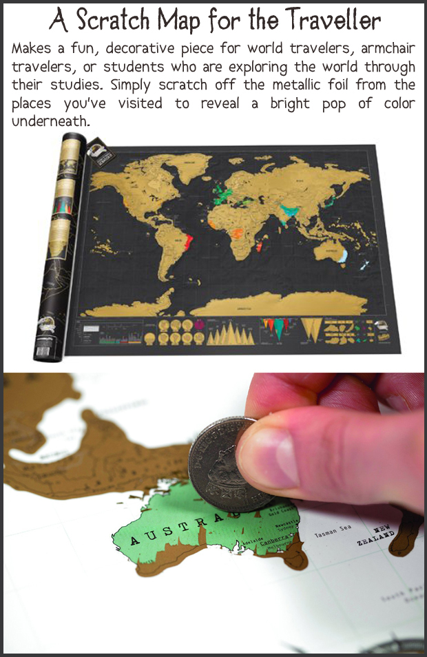 Fun Christmas Gift Ideas- Scratch Map