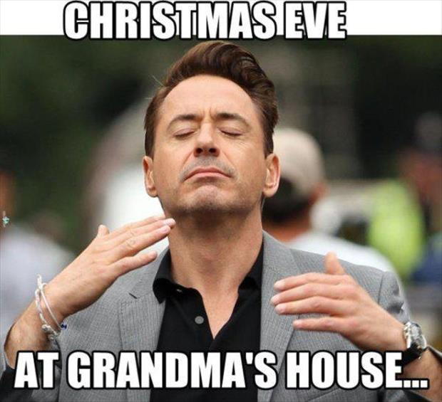 christmas eve at grandma's house