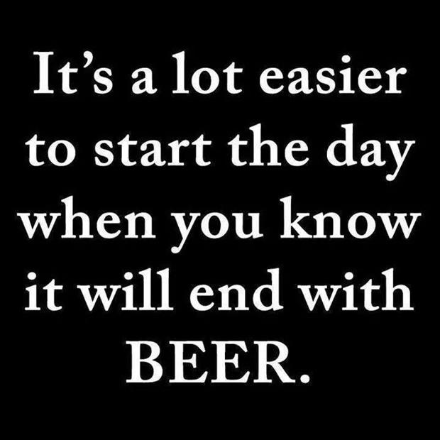 end the day with beer