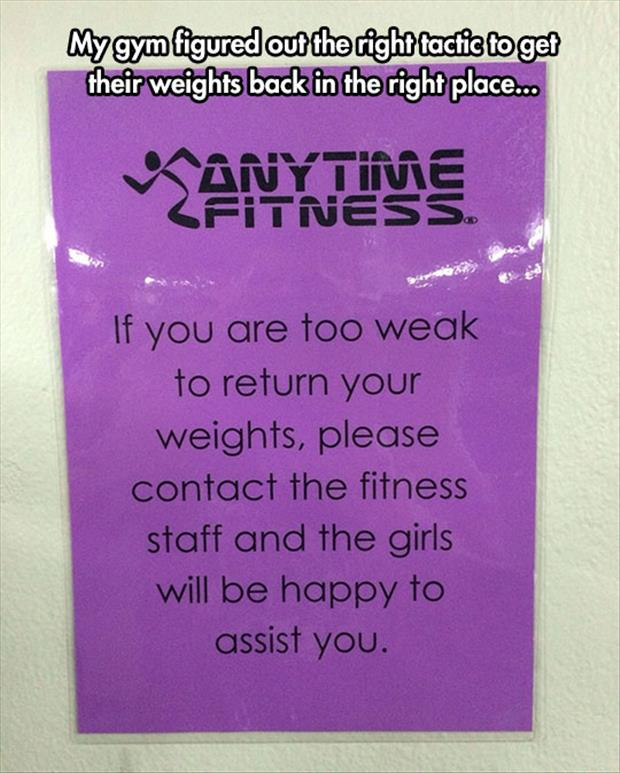 funny gym signs