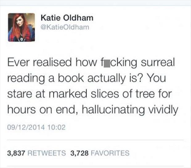 funny reading a book