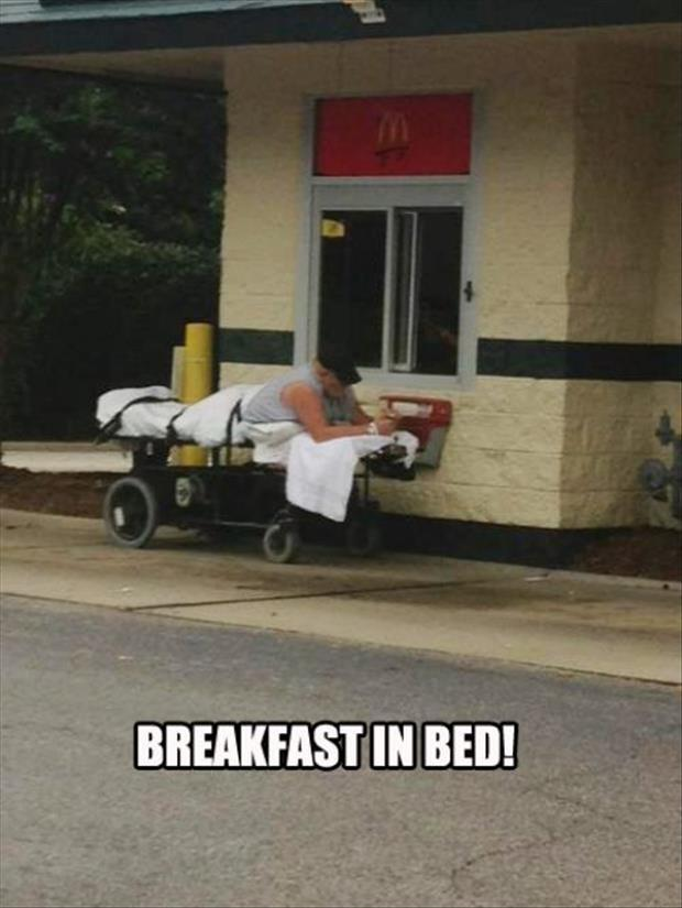 let's have breakfast in bed