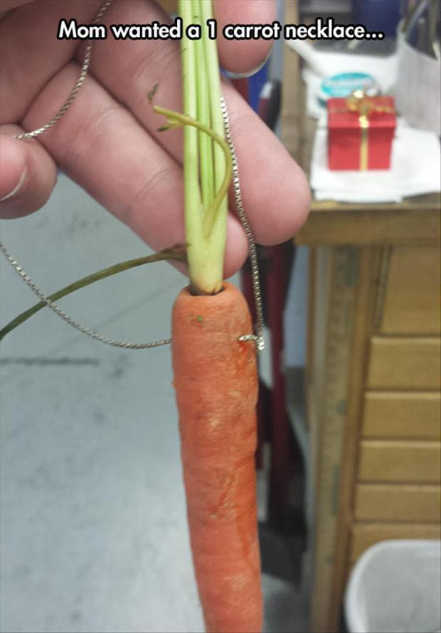 one carrot necklace