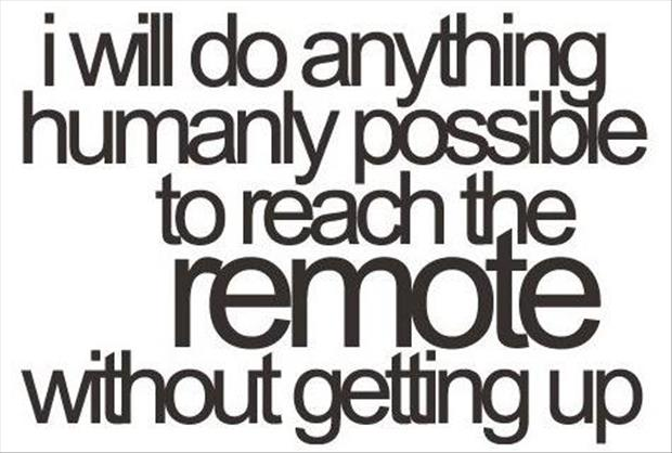reaching the remote