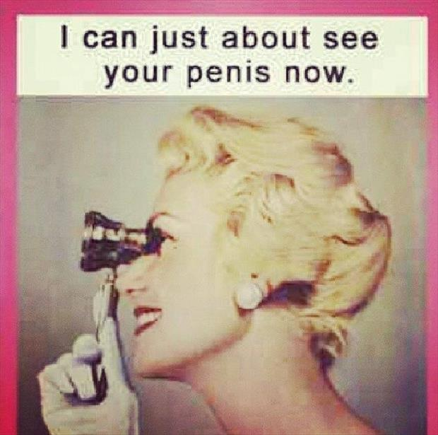 she can see your penis