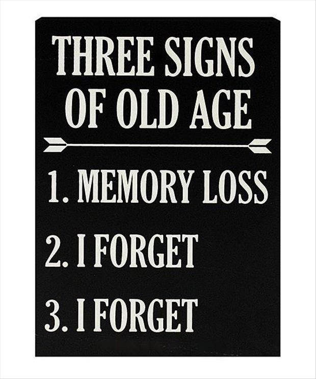 signs of getting old