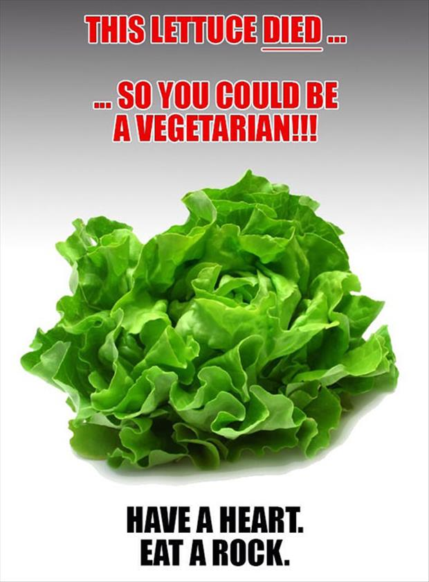 this lettuce died for you