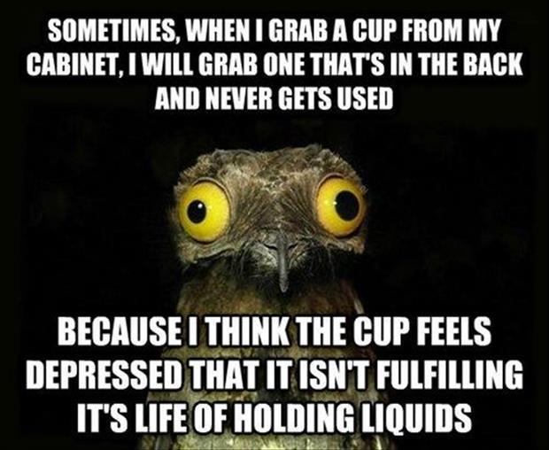 using a cup