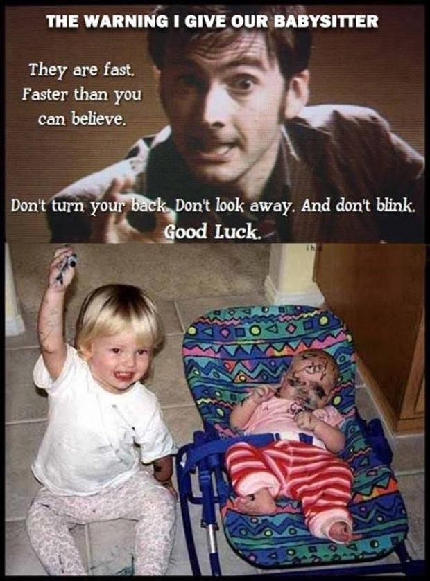warning the baby sitter